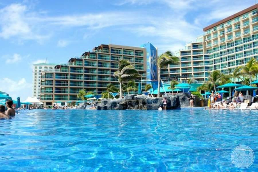 Hard Rock Hotel Cancun Main Pool and Rooms