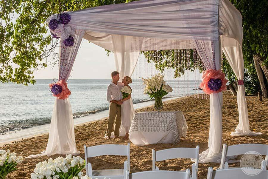 Hodges Bay Antigua Destination Wedding on the Beach