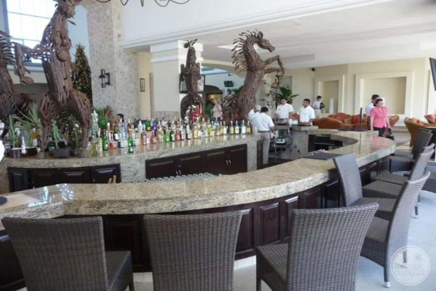main lobby area bar with premium drinks and staff are serving guests