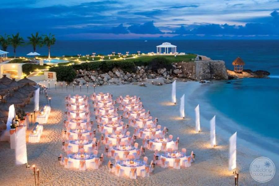 Hyatt Ziva Cancun Beach Wedding Reception
