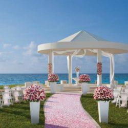 Hyatt Ziva Cancun Beach View Wedding