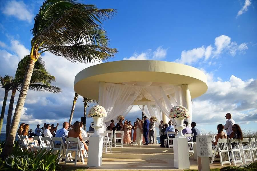 Hyatt Ziva Cancun Gazebo Wedding Ceremony