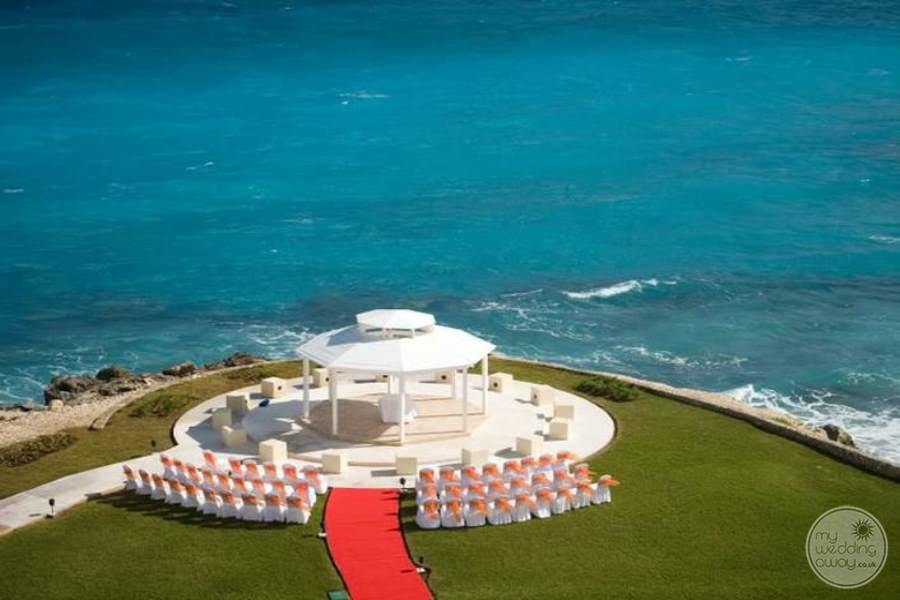 Hyatt Ziva Cancun Gazebo Wedding Setup