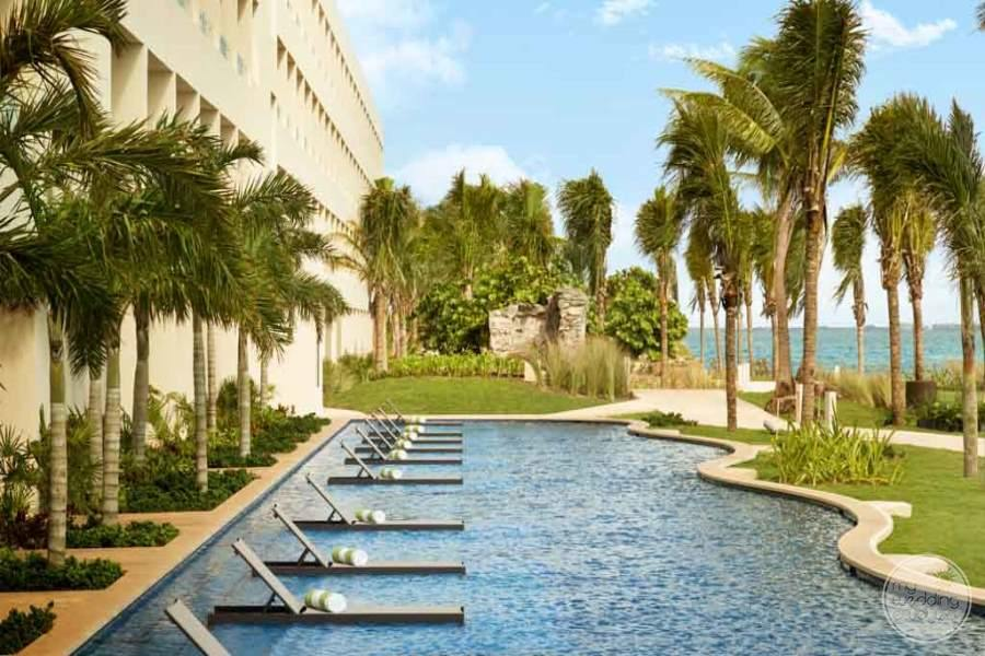 Hyatt Ziva Cancun Pool Loungers