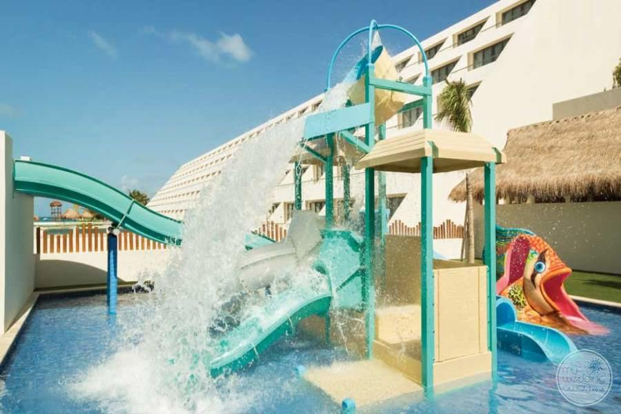 Hyatt Ziva Cancun Water Slides