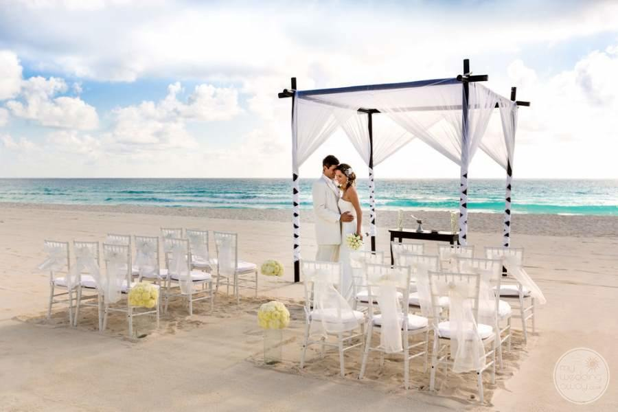 Le Blanc Cancun Beach Wedding Views