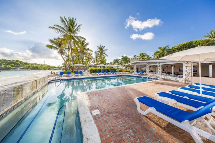 Pineapple Beach Club Antigua Pool with Loungers