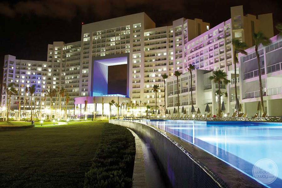 Riu Palace Peninsula Cancun Resort at Night