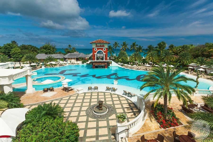 Sandals Grande Antigua Main Pool View