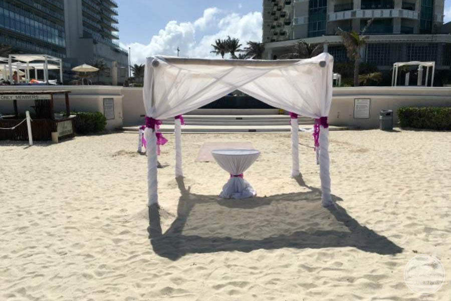 Sandos Cancun Beach Wedding Setup