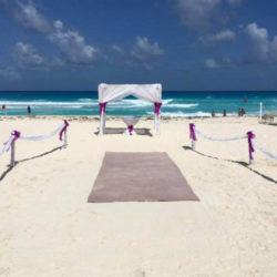 Sandos Cancun Beach Wedding Venue