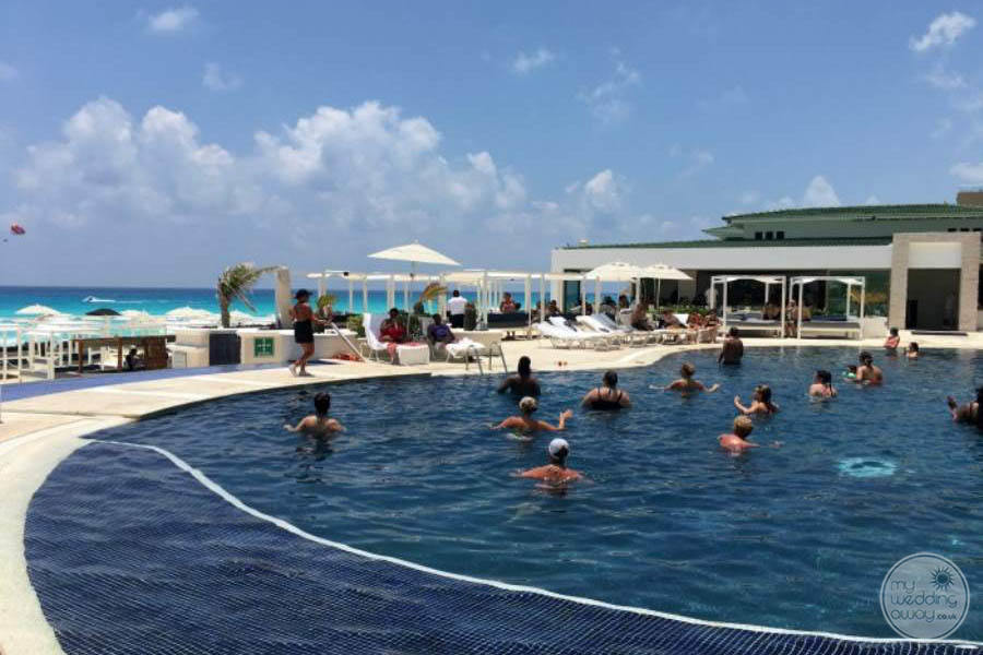 Sandos Cancun Lower Pool Area