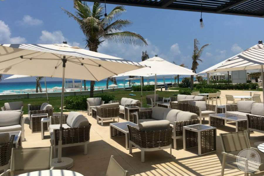 Sandos Cancun Outdoor Lounge Area