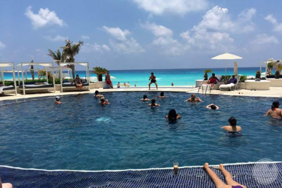 Sandos Cancun Pool Activities