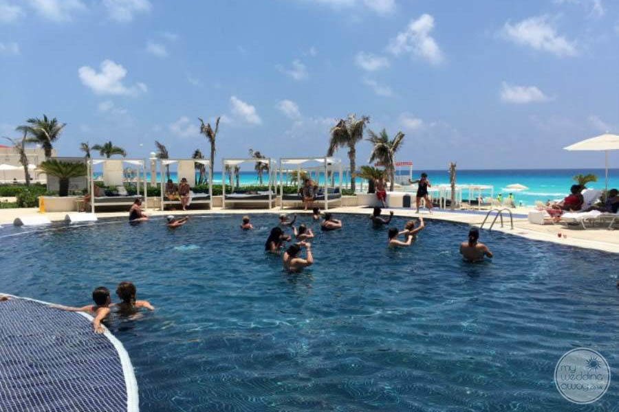 Sandos Cancun Pool Area