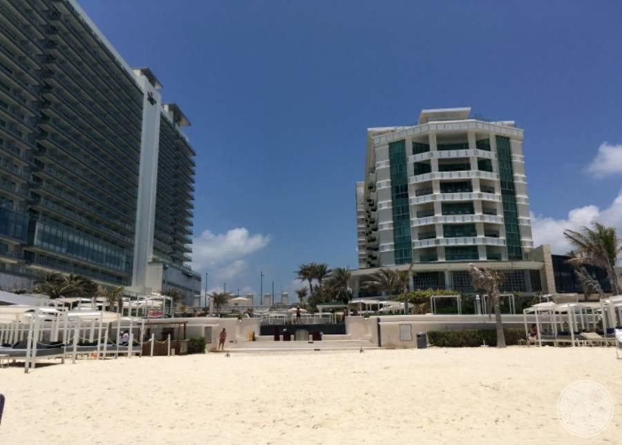 Sandos Cancun from Beach