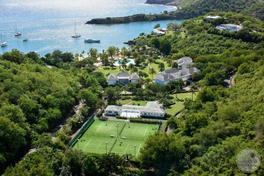 The Inn at English Harbour Antigua From Above
