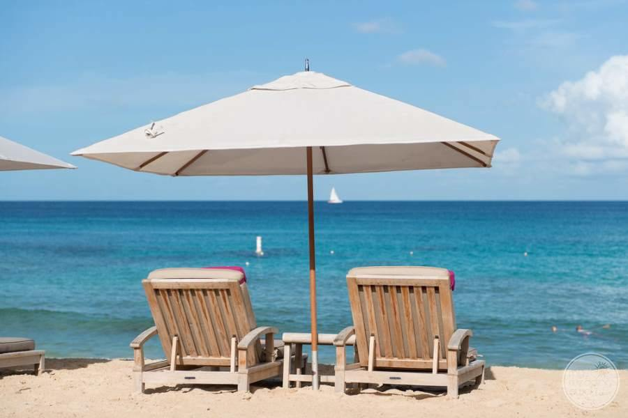 The House Barbados Covered Beach Loungers