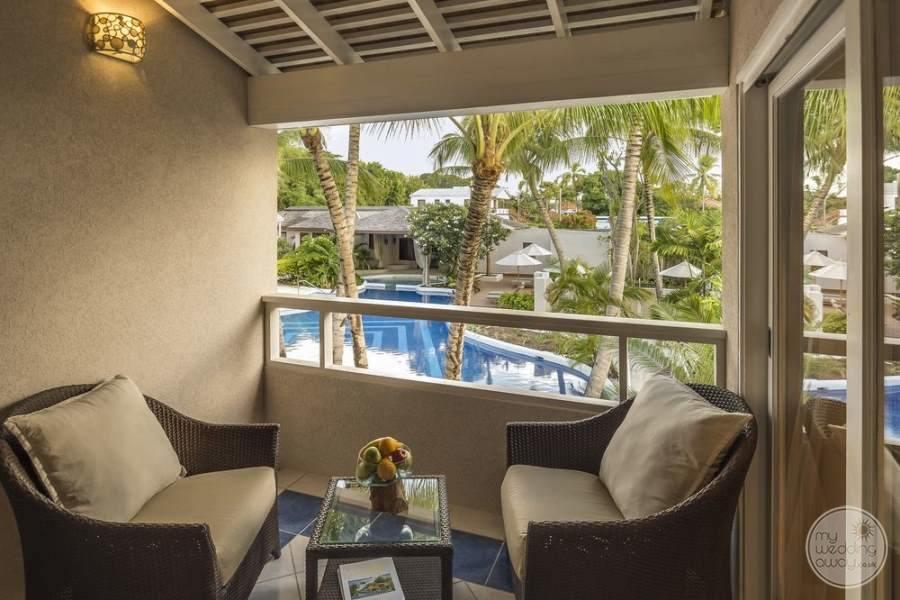 Waves Hotel Barbados Private Balcony Area