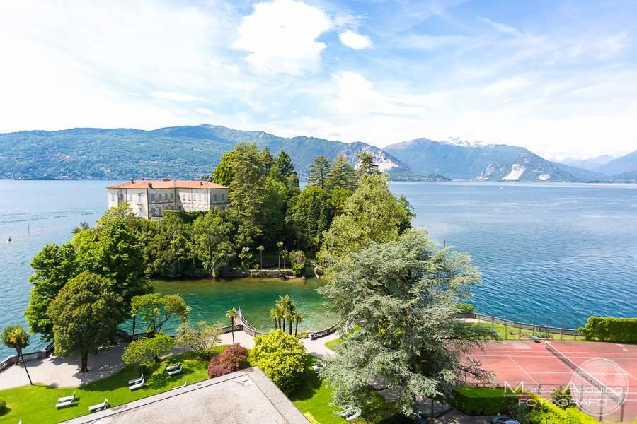 Grand Hotel Majestic Lake Maggiore View from Above