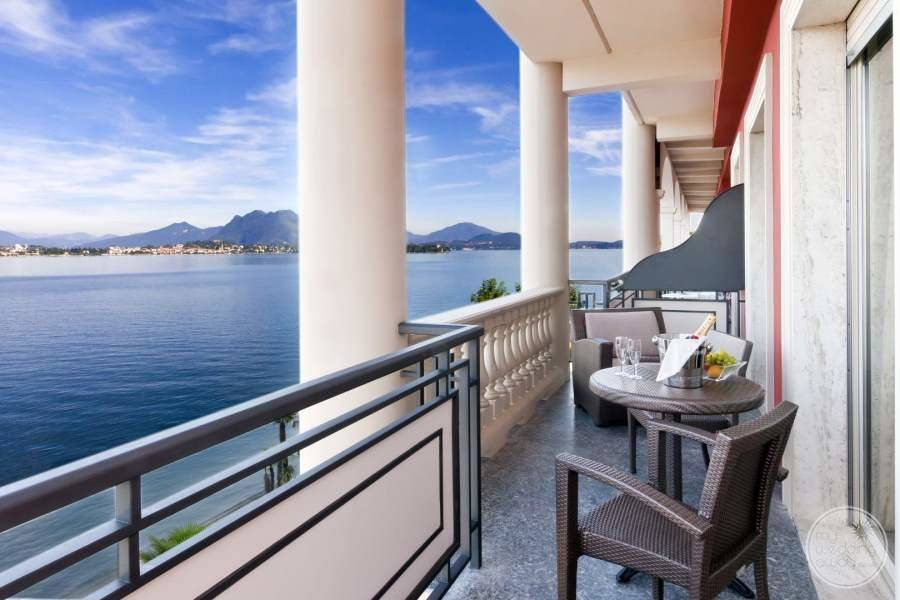 View of Balcony from bedroom overlooking the ocean and mountains
