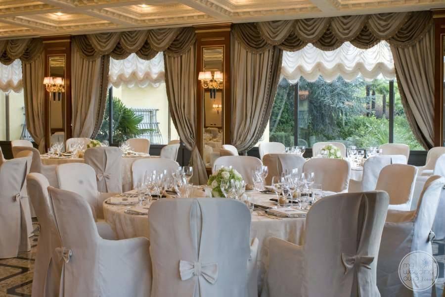Hotel Splendid Wedding Reception Setup