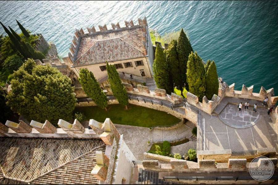 Malcesine Castle from Above