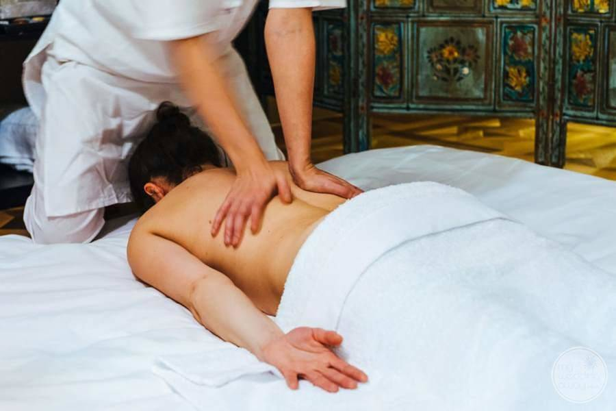guest receiving a Massage from the spa