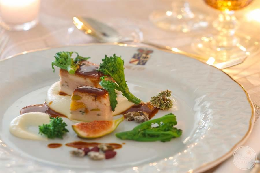 Appetizing hors d'oeuvres with Beautiful plated Design
