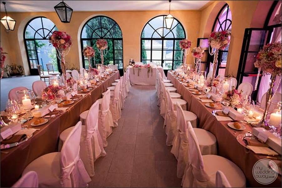 Villa del Balbianello Wedding Reception
