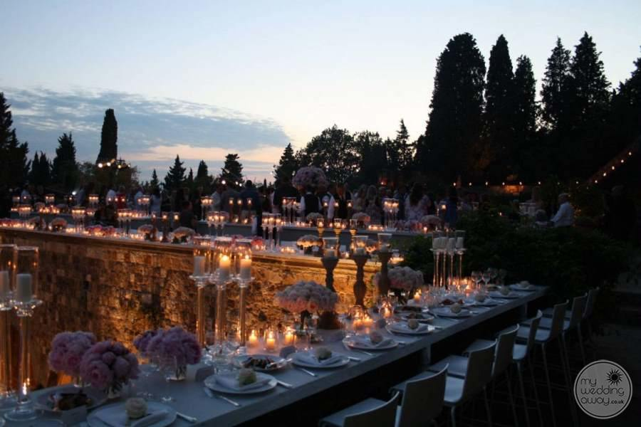 Castello Del Vincigliata Evening Wedding Reception