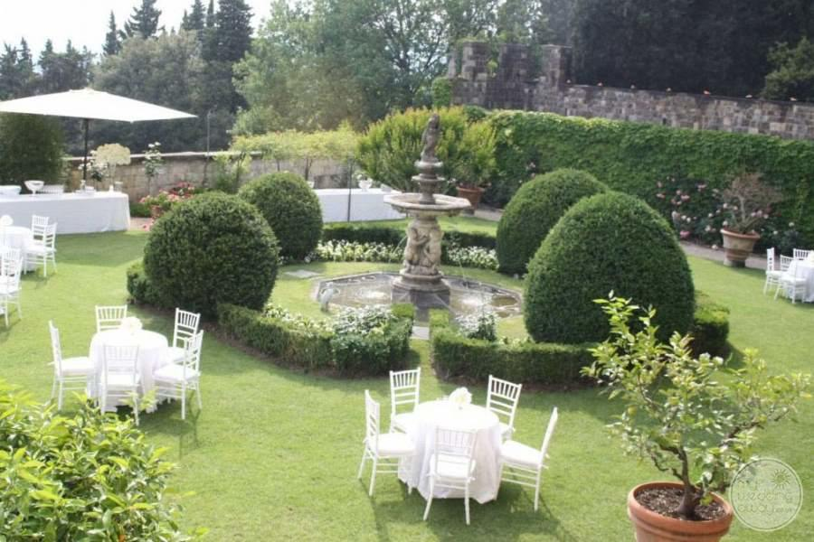 Castello Del Vincigliata Garden Wedding Reception