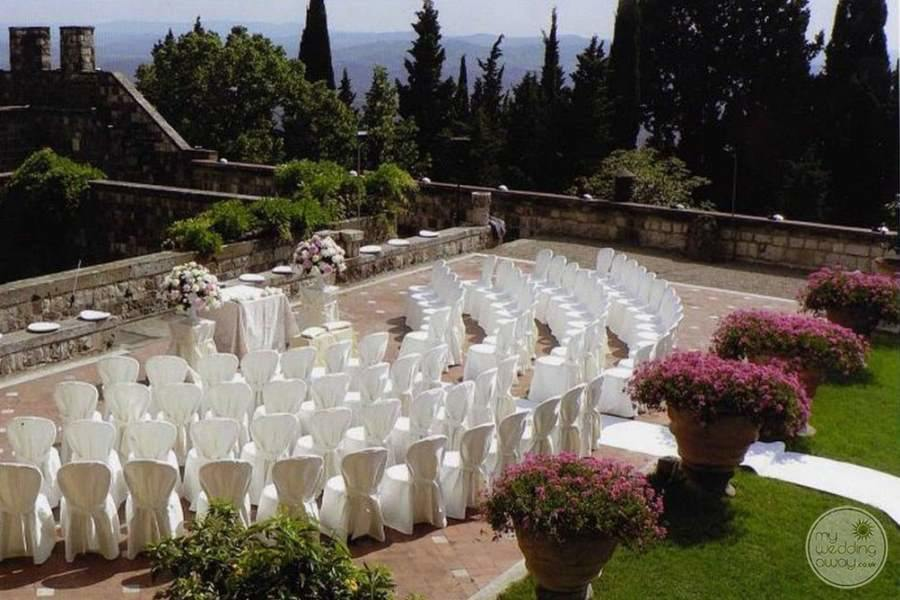 Castello Del Vincigliata Terrace Wedding