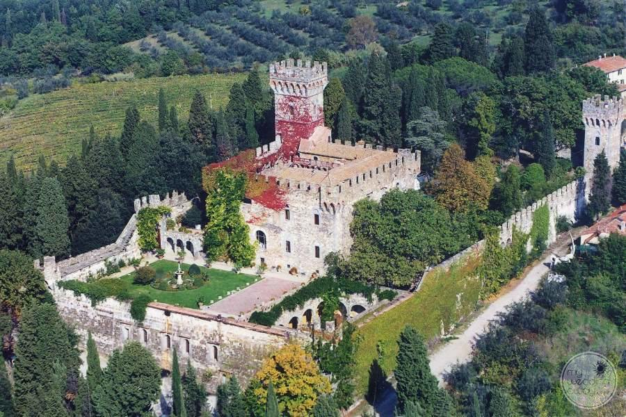 Castello Del Vincigliata from Above