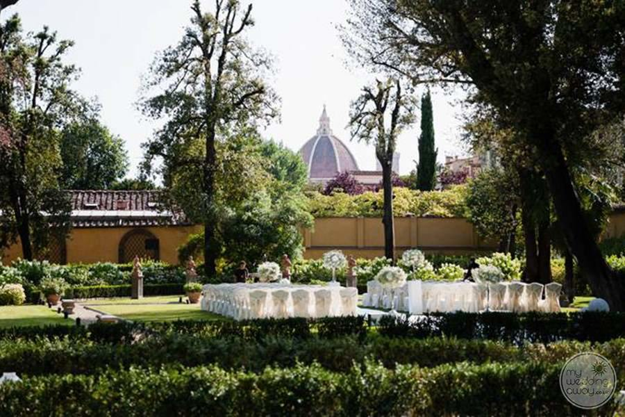Four Seasons Florence Garden Wedding Reception