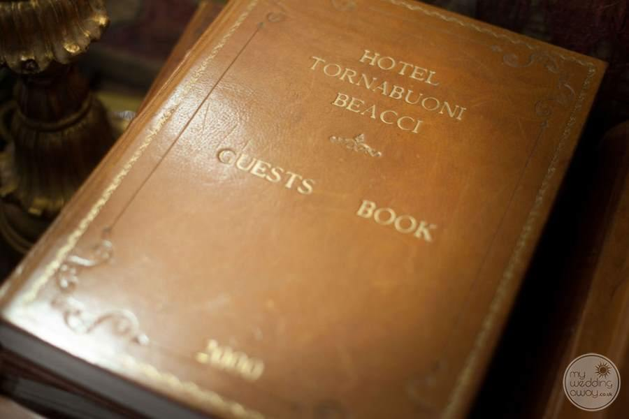 Tornabuoni Beacci Guest Book