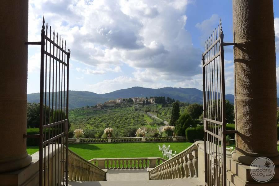 Villa Ferdinanda View from Gates