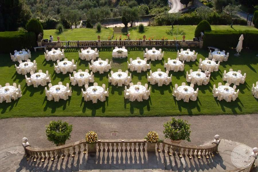 Villa Ferdinanda Wedding Reception Setup