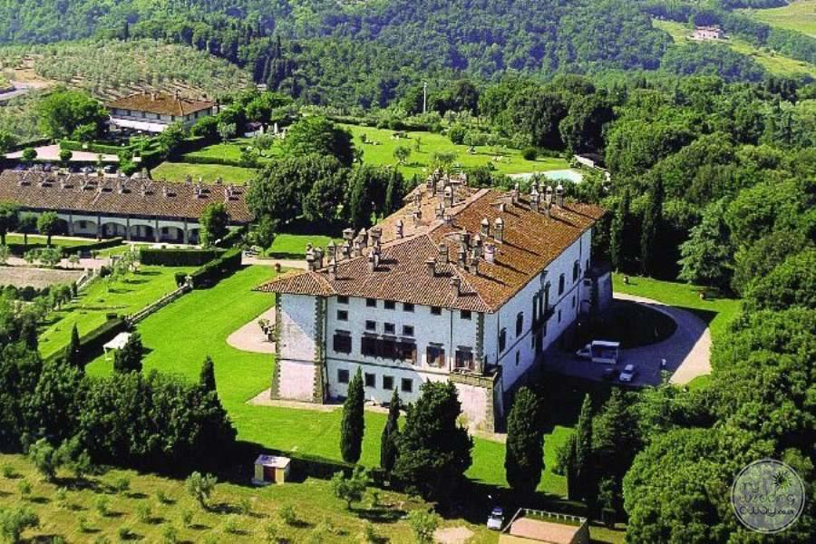 Villa Ferdinanda from Above