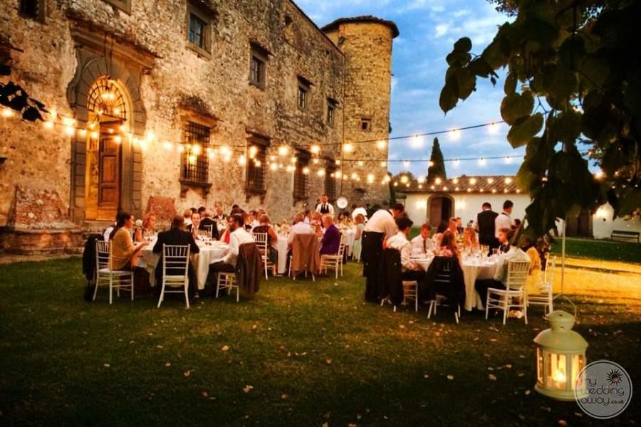 Castello del Meleto Garden Wedding Reception