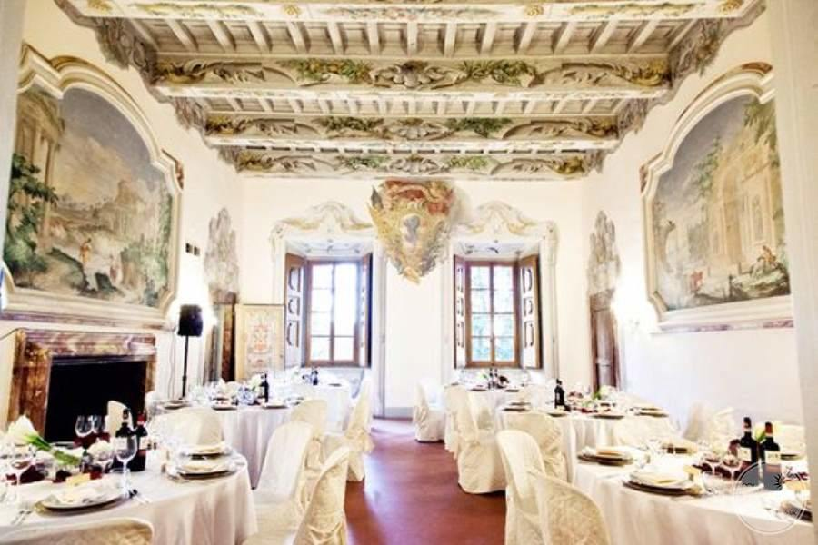 Castello del Meleto Indoor Wedding Reception