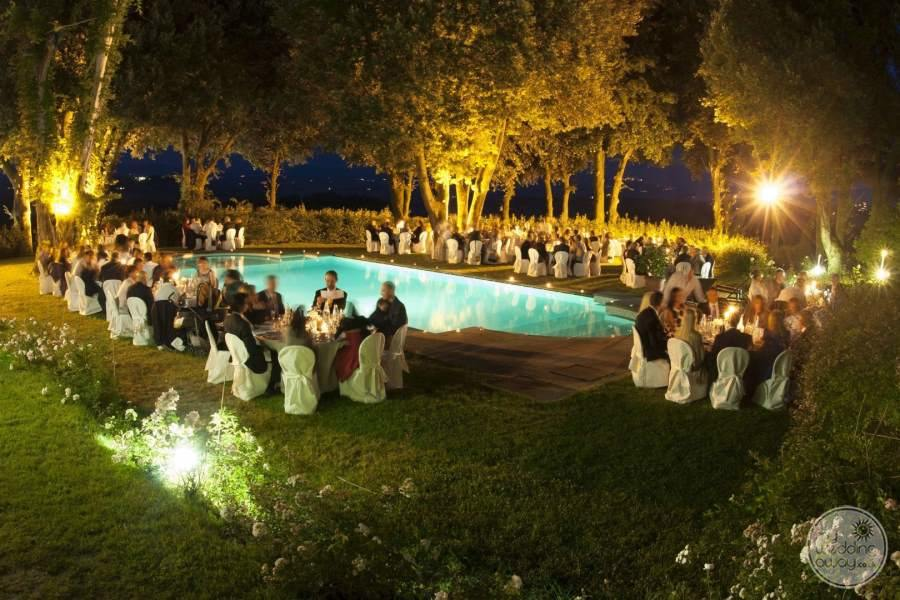 Pieve de Pitti Evening Poolside Wedding