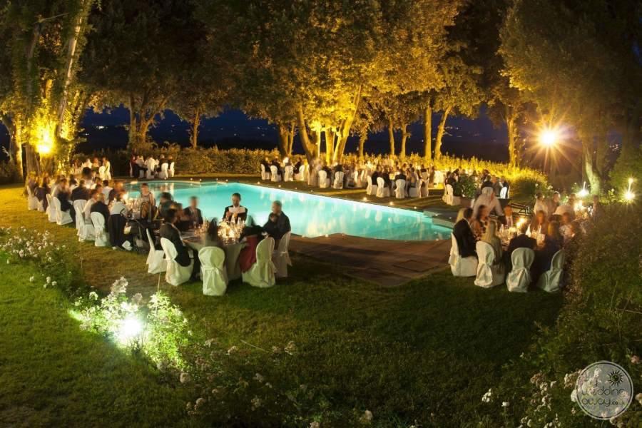 Pieve de Pitti Evening Poolside Wedding