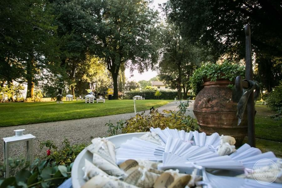 Garden Wedding with pathway and trees