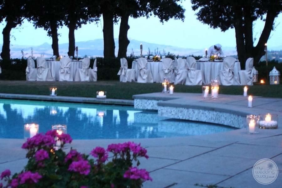 Pieve de Pitti Poolside Wedding