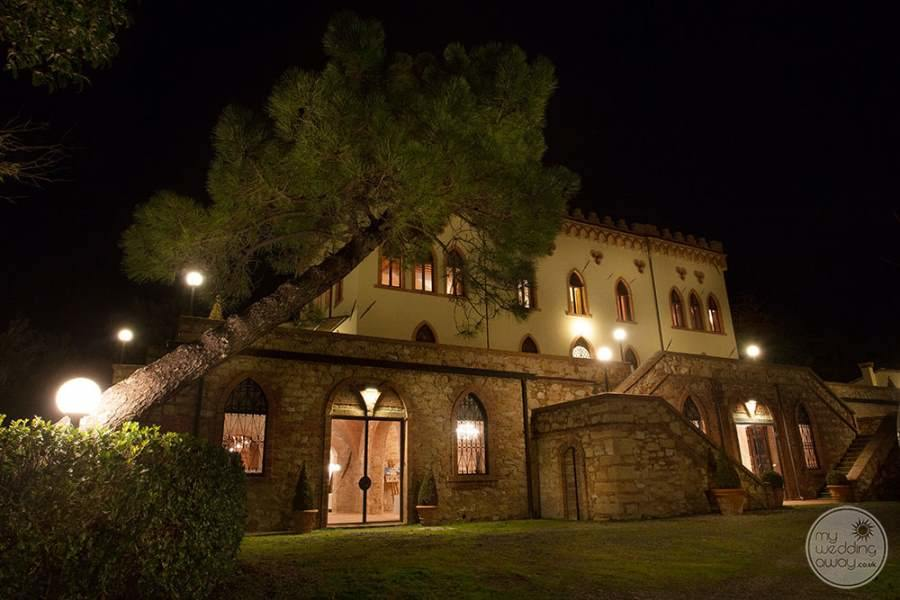 Villa Ricrio at Night