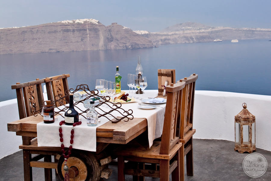 Andronis Luxury Suites Terrace Dining