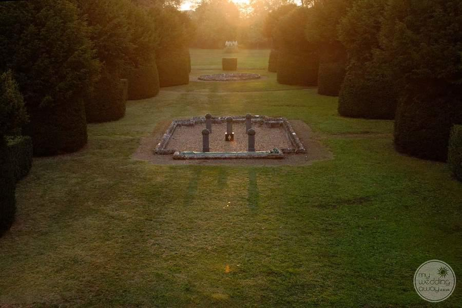 beautiful Gardens and grounds with surrounding shrubs and trees