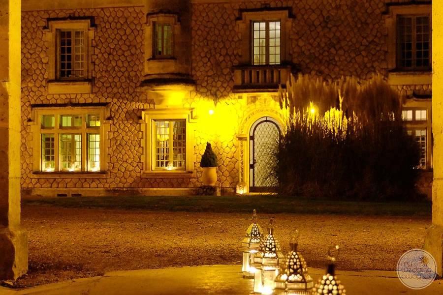 Cateau de la Couronne at Night
