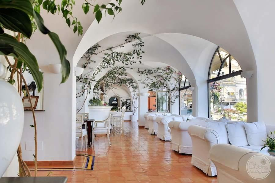 main Lounge Area with white couches for relaxation